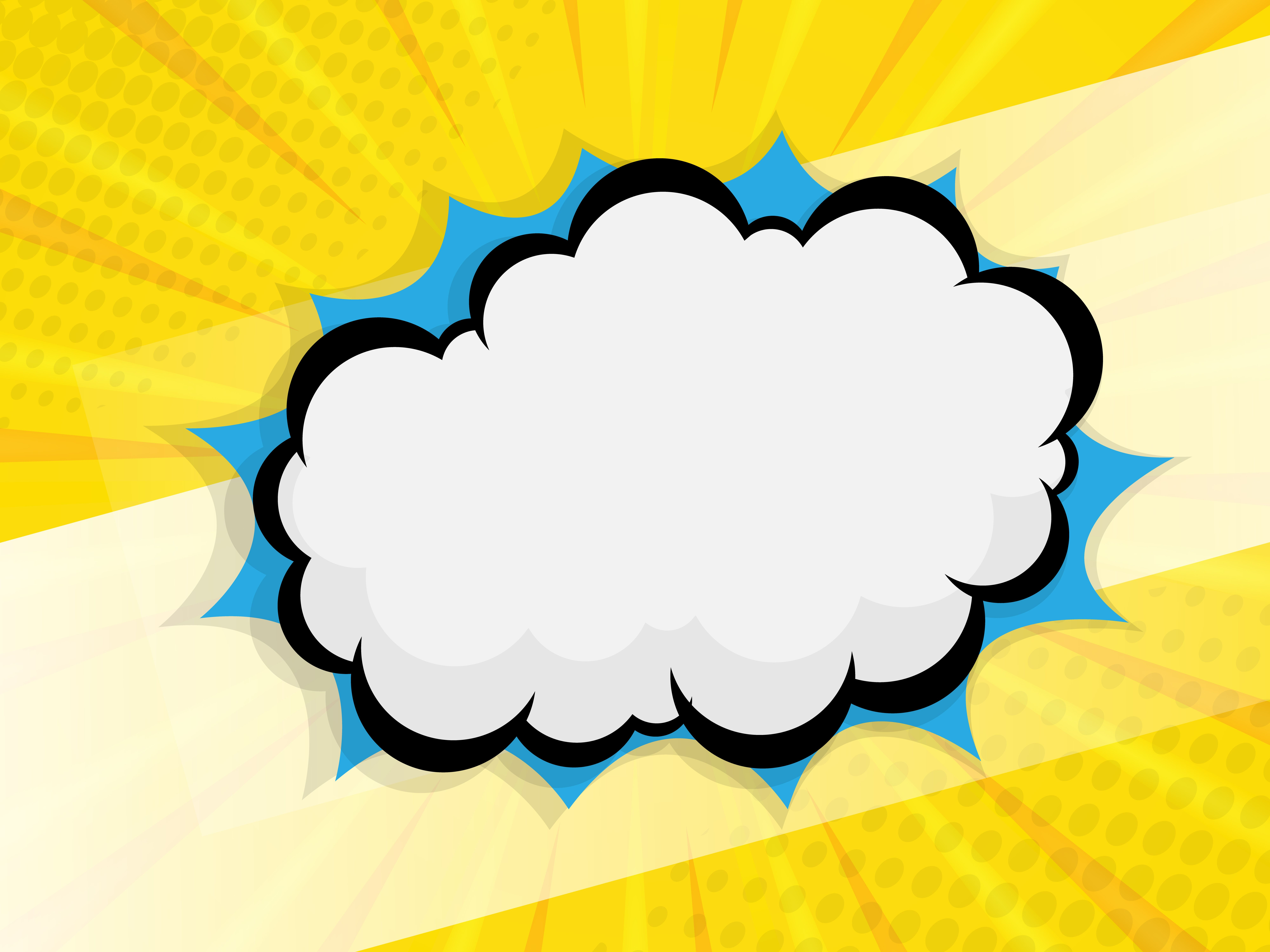 blank speech bubble comic book vector background. Choose