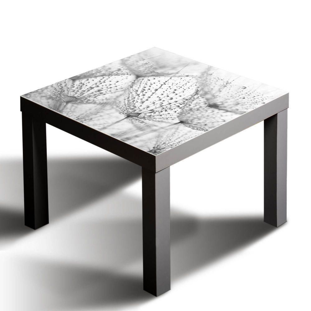 Gsmarkt Glasbild Glasplatte Für Ikea Lack Tisch 55x55 Blume Natur