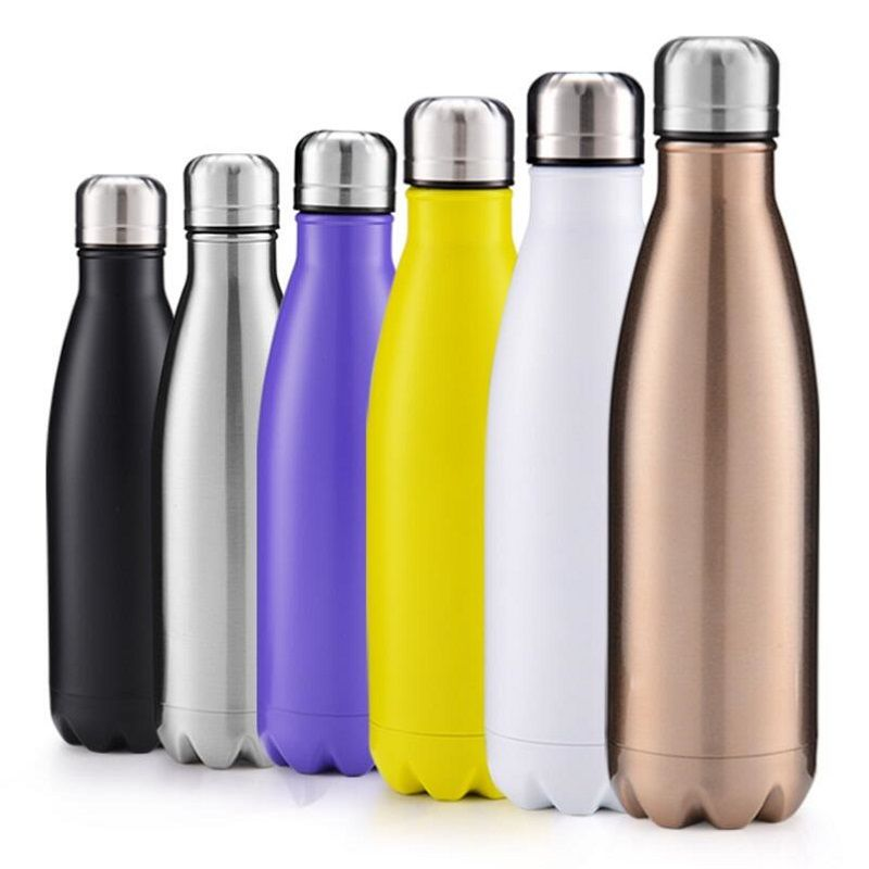 350//500ML//1L Bottle Stainless Steel Cup Vacuum Insulated Water Drink Thermos Mug
