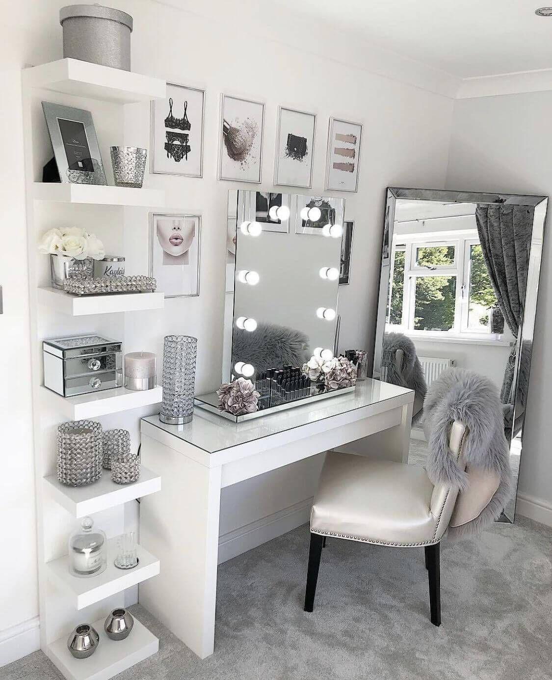 Breathtaking makeup room ideas diy #makeuproomideas