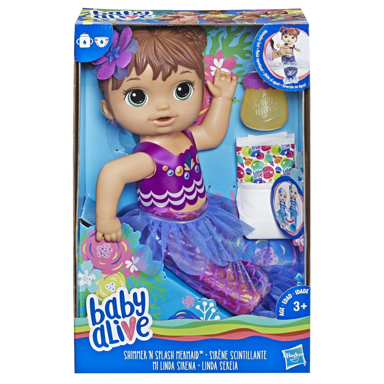Hasbro Baby Alive Shimmer N Splash Mermaid Multi Baby