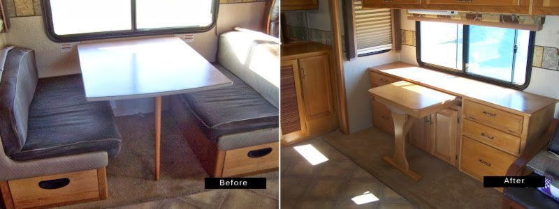 Swap Out A Rv Dining Table For A More Functional Credenza Rv