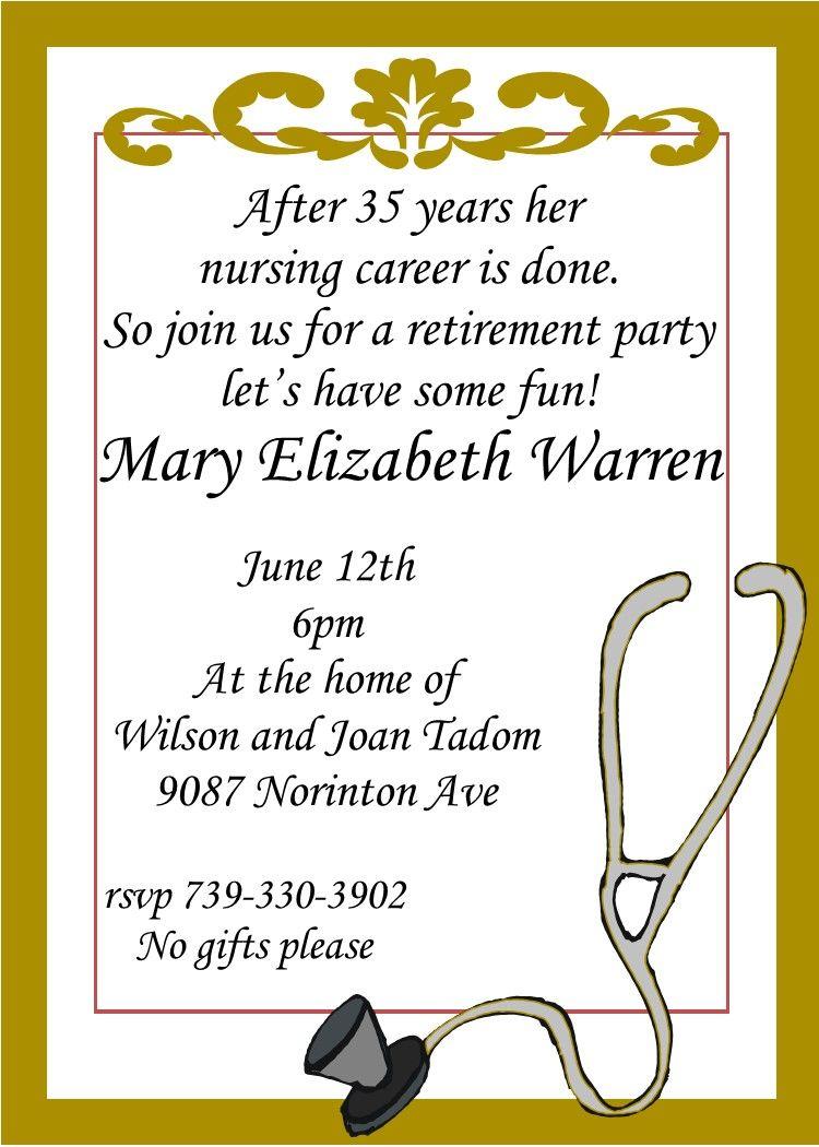 Nursing Retirement party invitations- custom made | retirement ...