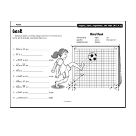 Goal!4.G.A.1  Draw points, lines, line segments, rays, angles (right, acute, obtuse), and perpendicular and parallel lines. Identify these in two-d…