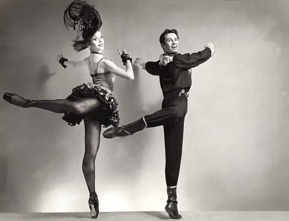 "Frank Ohman with Gloria Govrin in Balanchine's ""Western Symphony!"""