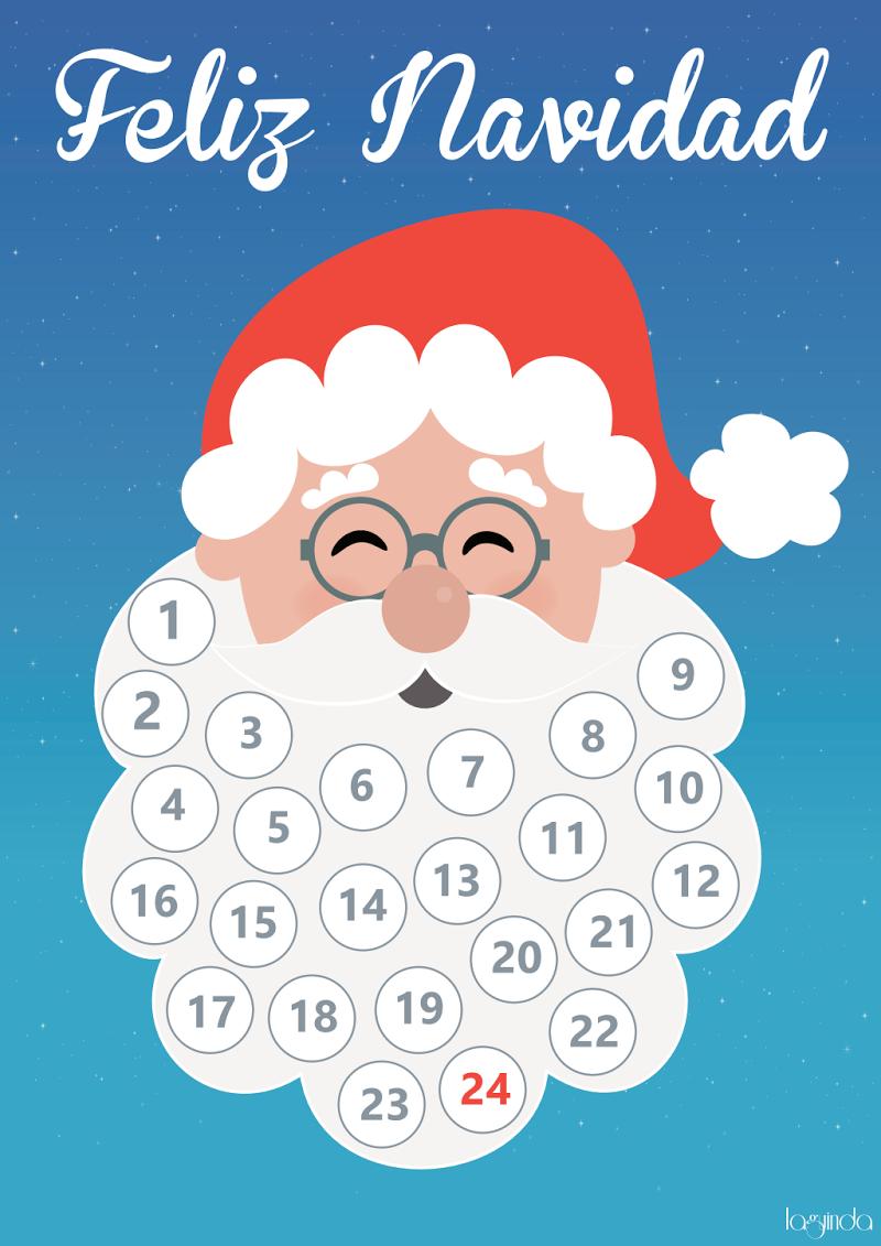Calendario Adviento Barba Papa Noel Calendario De Adviento Papa Noel Calendario Navidad
