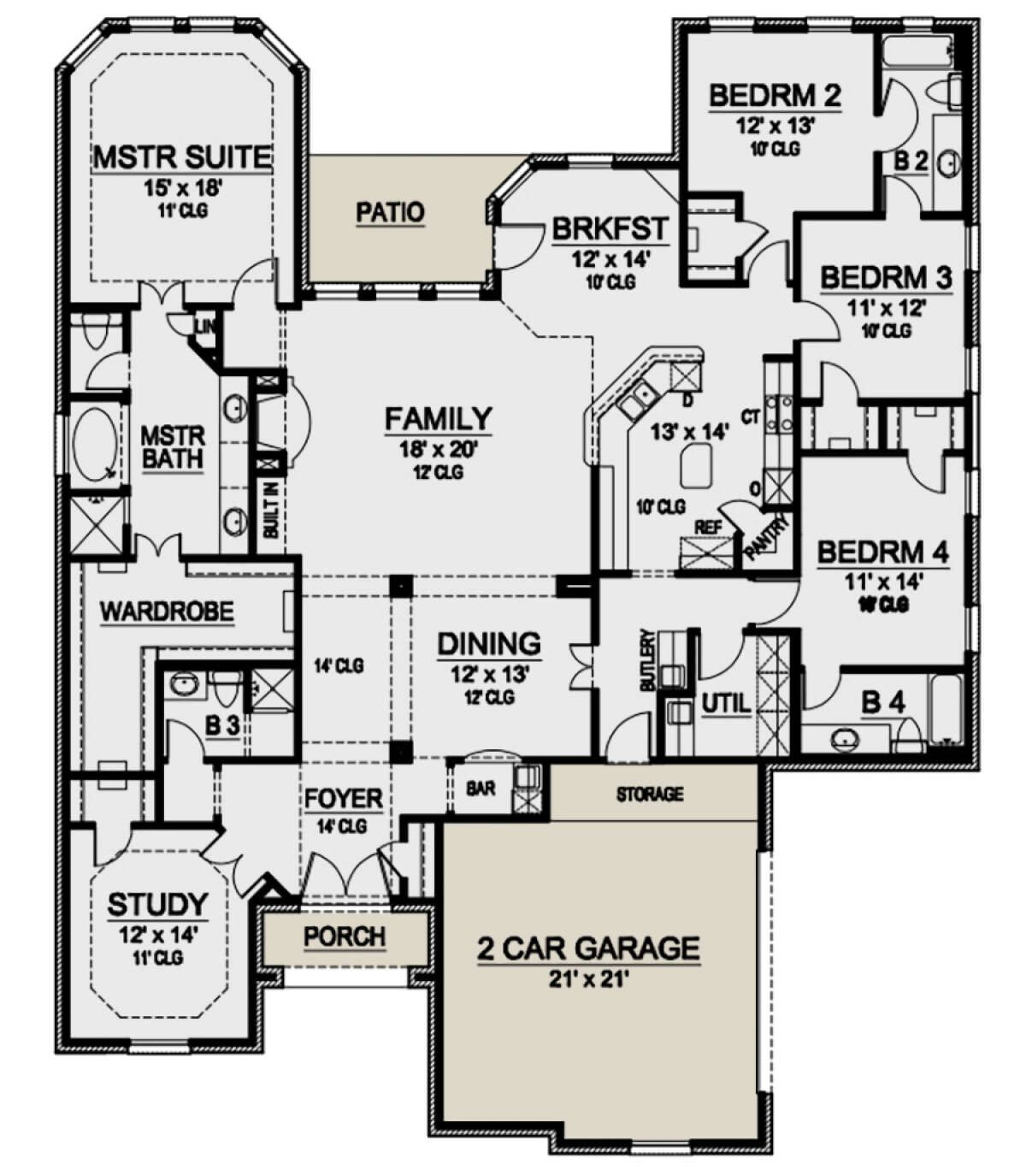House Plan 5445 00394 European Plan 2 799 Square Feet 4 Bedrooms 4 Bathrooms In 2021 European Plan House Plans European House Plan