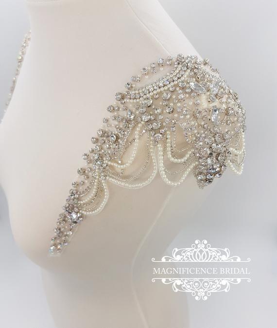 Bridal straps shoulder straps Bridal Epaulettes Shoulder | Etsy