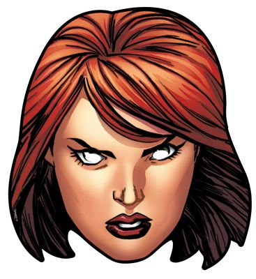 Black Widow From Marvel S The Avengers Single Card Party Face Mask Party Face Masks Black Widow Marvel Black Widow Avengers