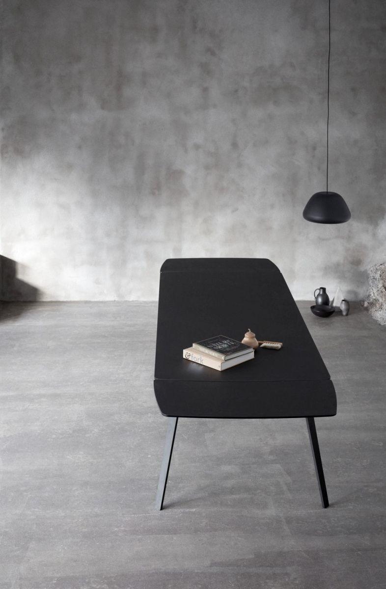 Houe Float Tisch Erweiterung - 50 x 90 cm - granite grey laminate ...