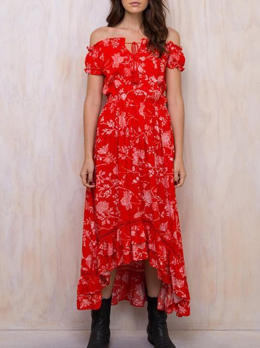 3c8376f253 Pretty Bohemia Floral Off Shoulder Maxi Dress | fashion close to my ...