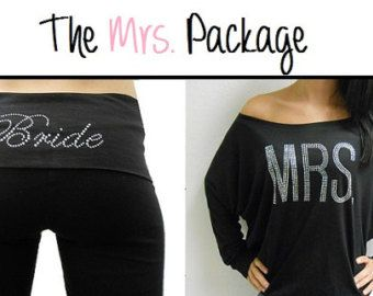 Mrs Off The Shoulder And Bride Yoga Pants Package