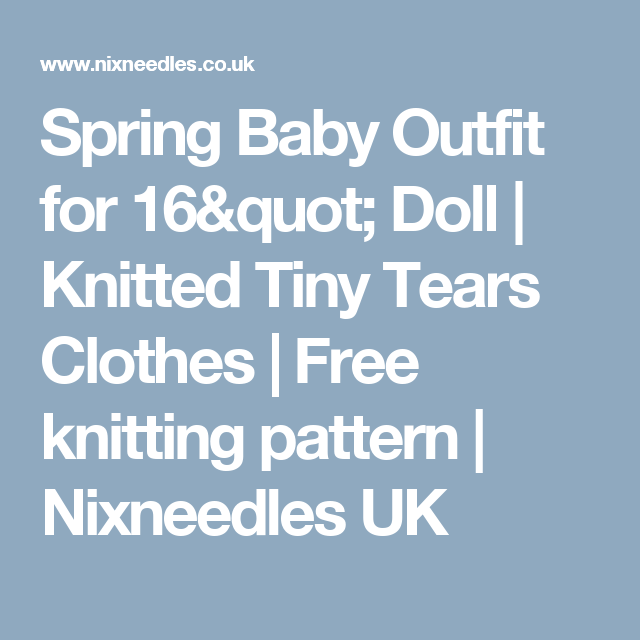 Spring Baby Outfit for 16\
