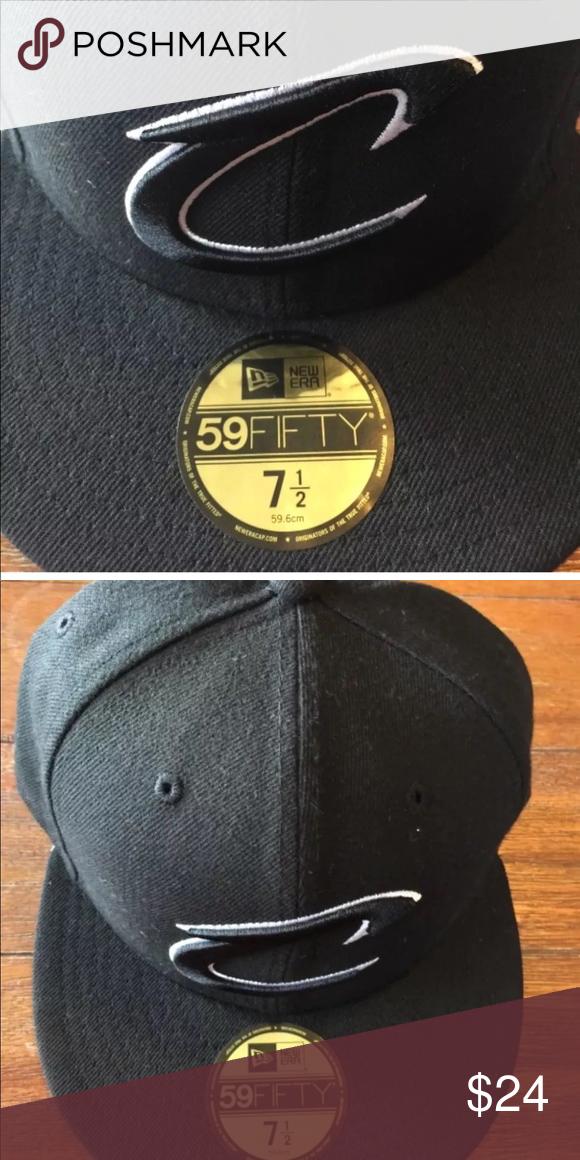 abb18515e4c New Era Cap 59Fifty Cavaliers Solid Black 7 1 2 New NBA New Era Cap ...