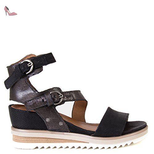 Mjus 896009-0101, Sandales Bout ouvert femme - noir - noir, - Chaussures