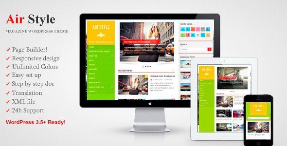 Air Style - Responsive WordPress Magazine Theme (Blog / Magazine ...