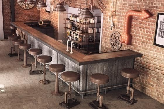 50 Elegant Industrial Style Home Bar Ideas With Images Home