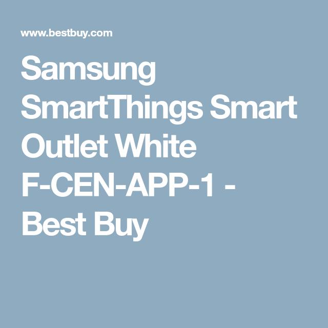 Samsung SmartThings Smart Outlet White FCENAPP1 Best