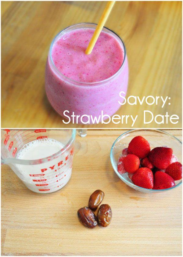 strawberry date smoothie