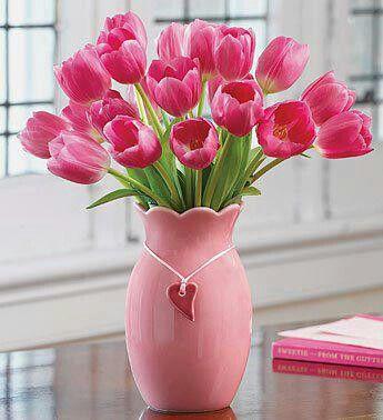 Love Pink Tulips