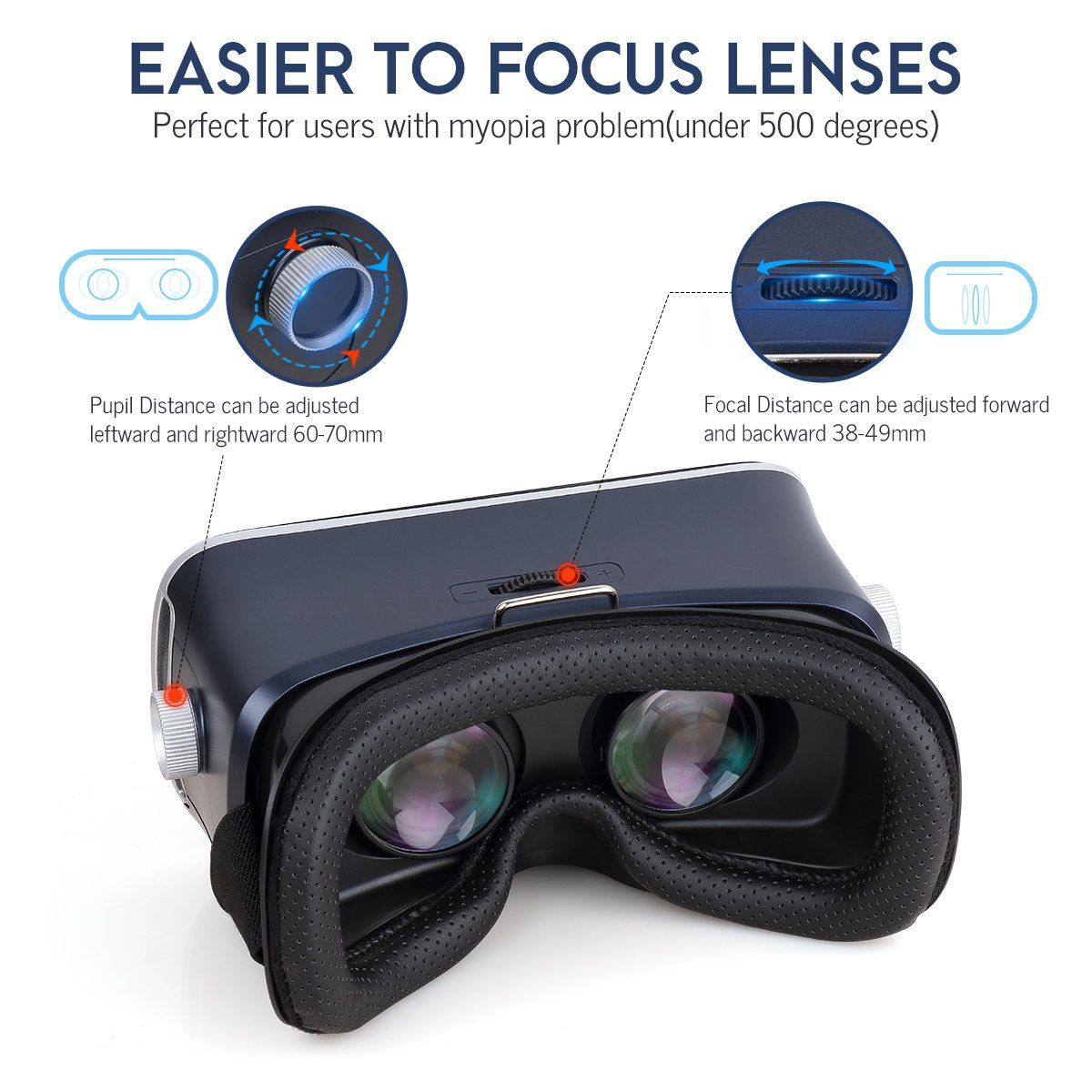 85ddcf2a51 Pansonite 3D VR Glasses Virtual Reality Headset with Remote Controller and Adjustable  Lenses  VirtualRealityHeadsetandGameIdeas