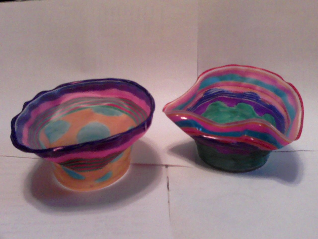 Decorating Plastic Tumblers Chihuly Blown Glass Bowls We Decorated Clear Plastic Cups And