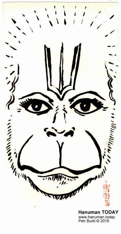 Sunday, March 27, 2016   Daily drawings of Hanuman / Hanuman TODAY / Connecting with Hanuman through art / Artwork by Petr Budil [Pritam] www.hanuman.today