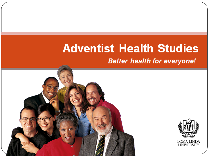 Five Adventist Health Studies that explore the links between lifestyle, diet and disease among members of the Seventh-day Adventist church, a Christian denomination that  encourages a vegetarian diet and calls for abstinence from alcohol and tobacco.