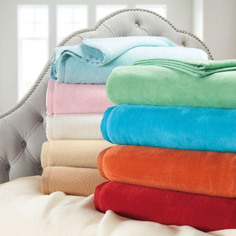 European Cotton Fleece Blanket Or Throw Attic Room Of
