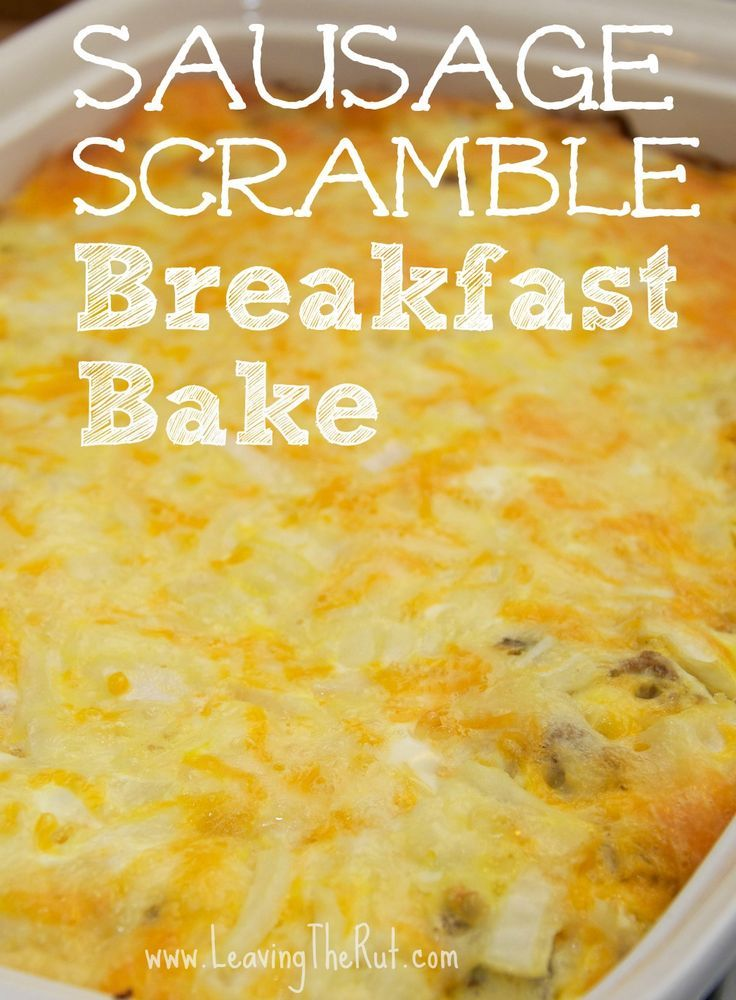 Sausage Scramble Breakfast Bake. This breakfast bake is really easy and perfect ... -