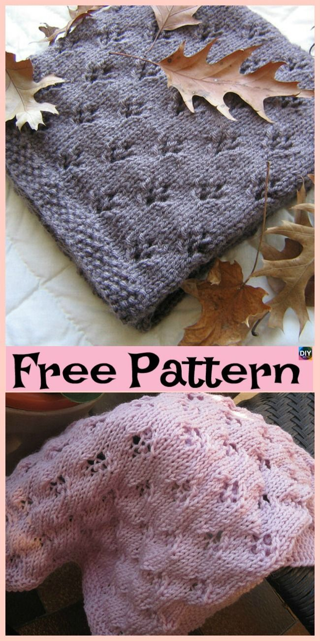 10 Easiest Knit Baby Blanket Free Patterns #freeknittingpattern #blanket #babygi... #babyblanket