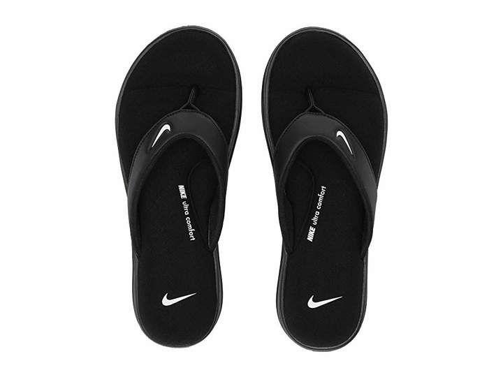 official photos 627c9 058ac Nike Ultra Comfort 3 Nike Swoosh Logo, Black Sandals, Shoes Sandals, Women  Sandals