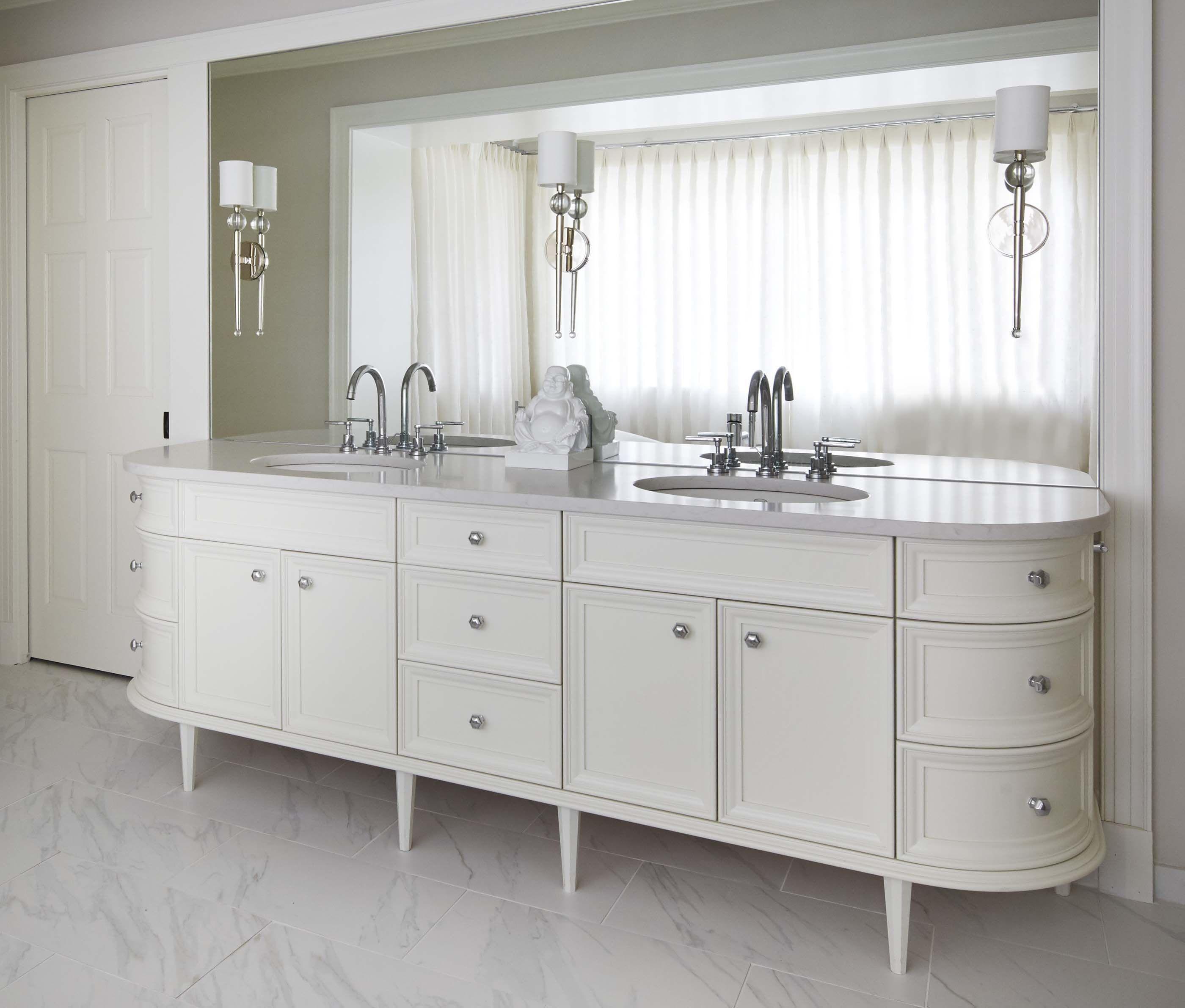 Morgante Wilson Architects designed this Master Bath double vanity ...