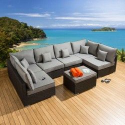 New Algarve Rattan Wicker Weave Garden Furniture Patio Conservatory Sofa  Setu2026 | Furniture Syntetic Rattan | Pinterest | Garden Furniture, ...