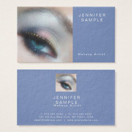 Cosmetologist Makeup Artist Elegant Professional Business Card