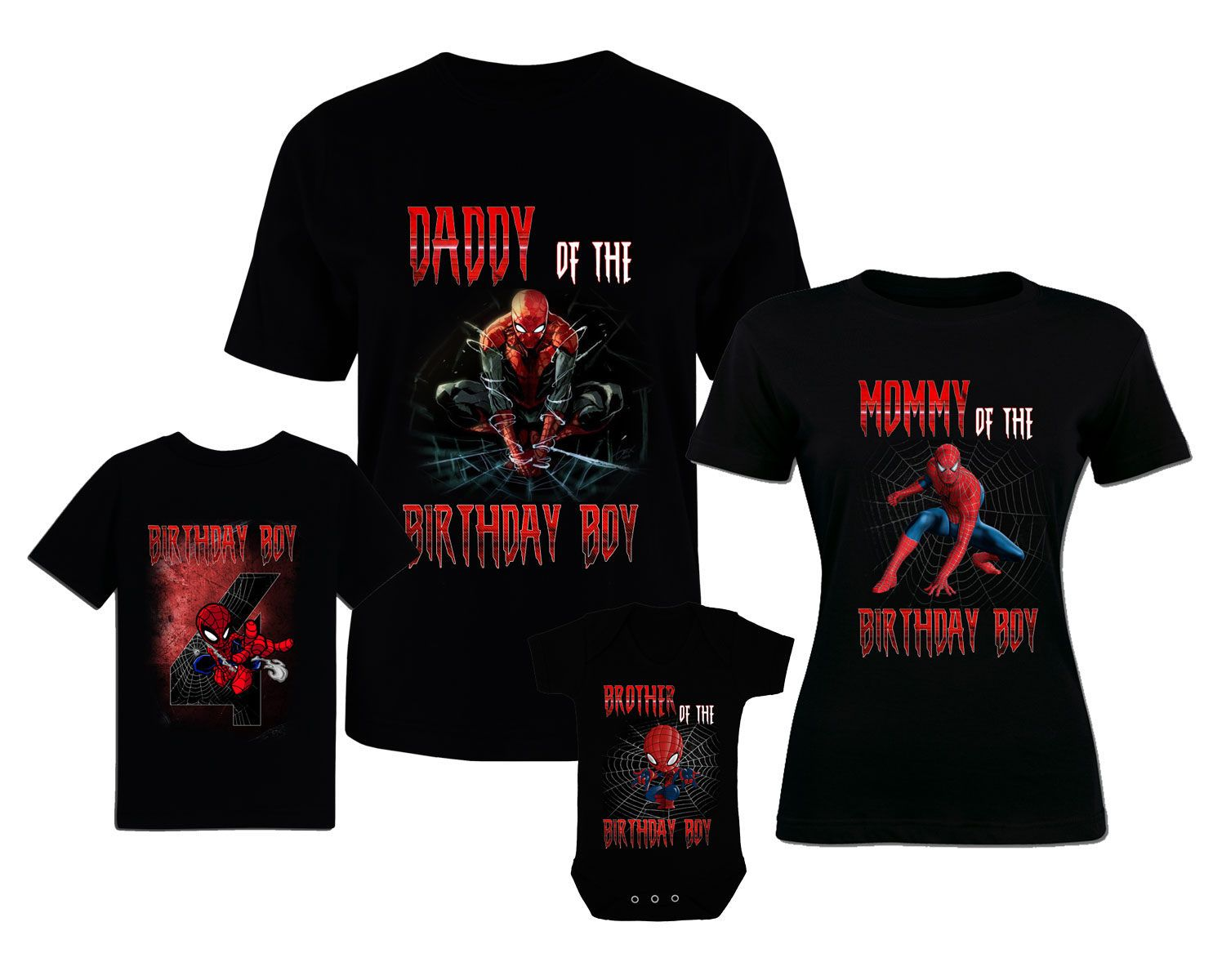 Spiderman Birthday T Shirts Custom Family Personalized Shirt And Baby Bodysuit By BestDesignStoreGifts On Etsy