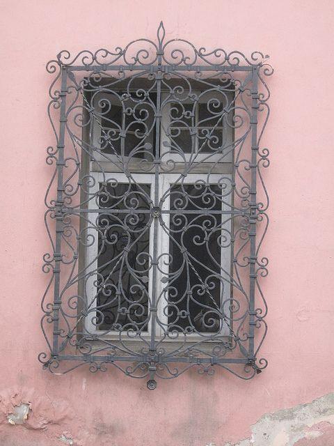 Barrio Yungay Window, Santiago, Chile