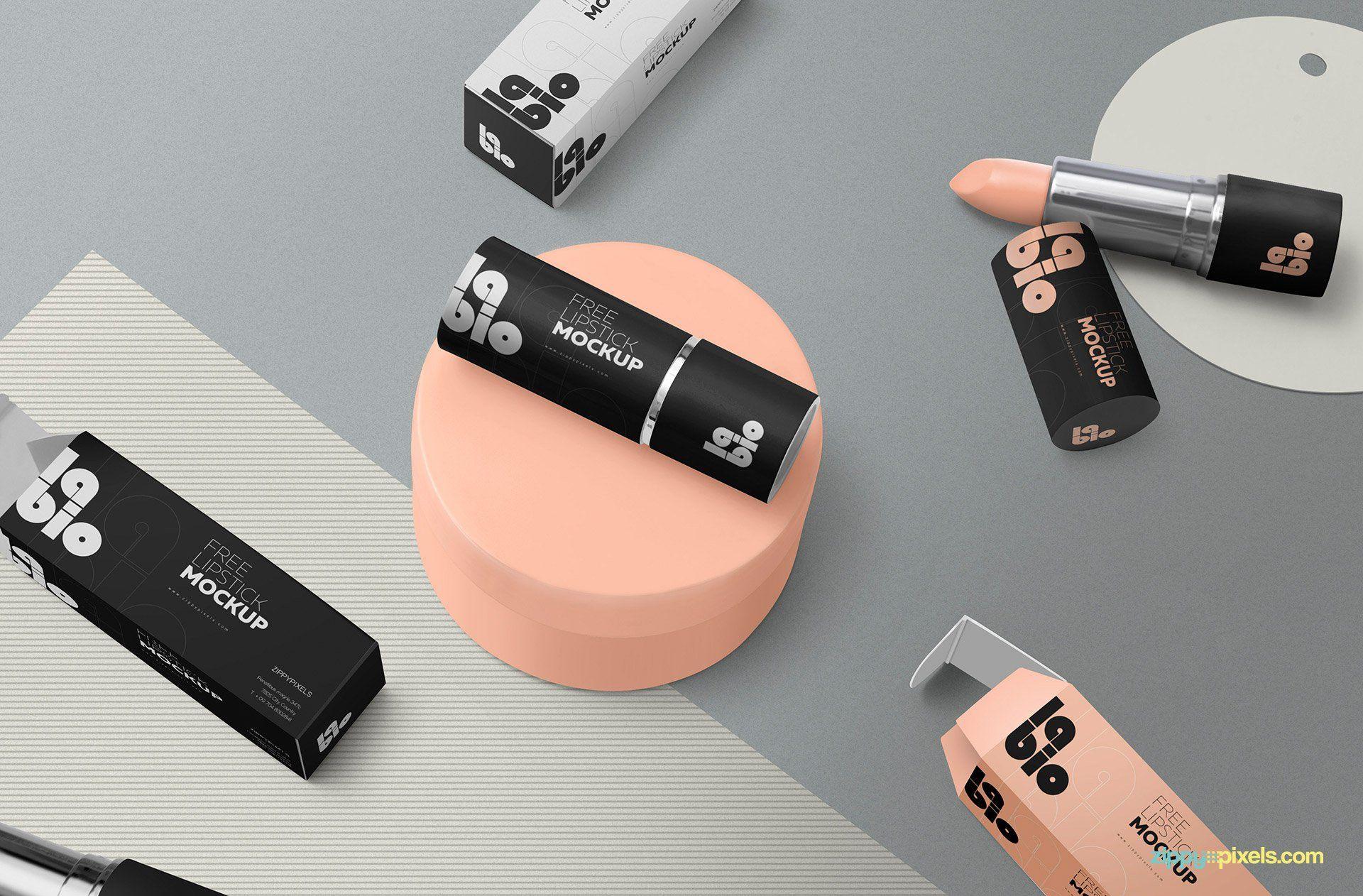 Download Free Matte Lipstick Mockup Packaging Mockup Free Packaging Mockup Matte Lipstick