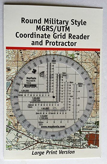 Amazon Com  Round Military Coordinate Scale And Protractor  Sports  U0026 Outdoors