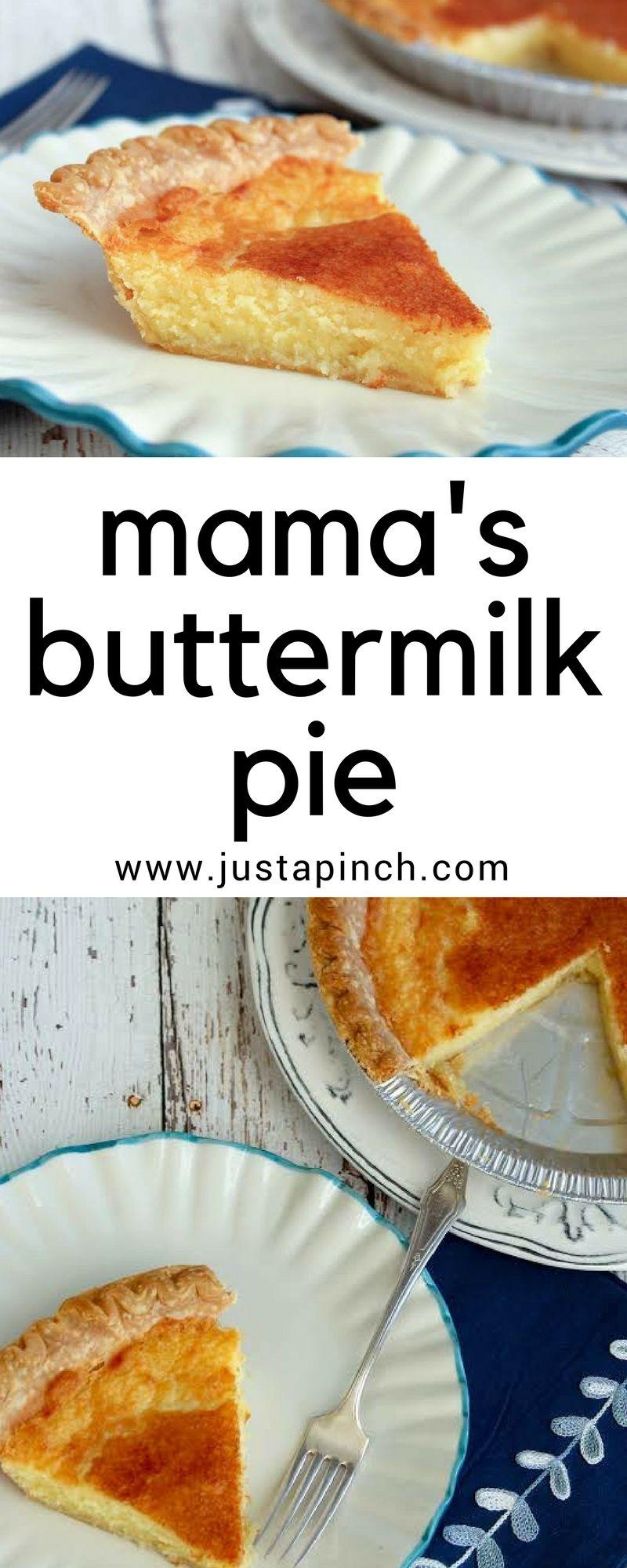 Mama S Buttermilk Pie Recipe Buttermilk Pie Buttermilk Recipes Buttermilk Pie Recipe