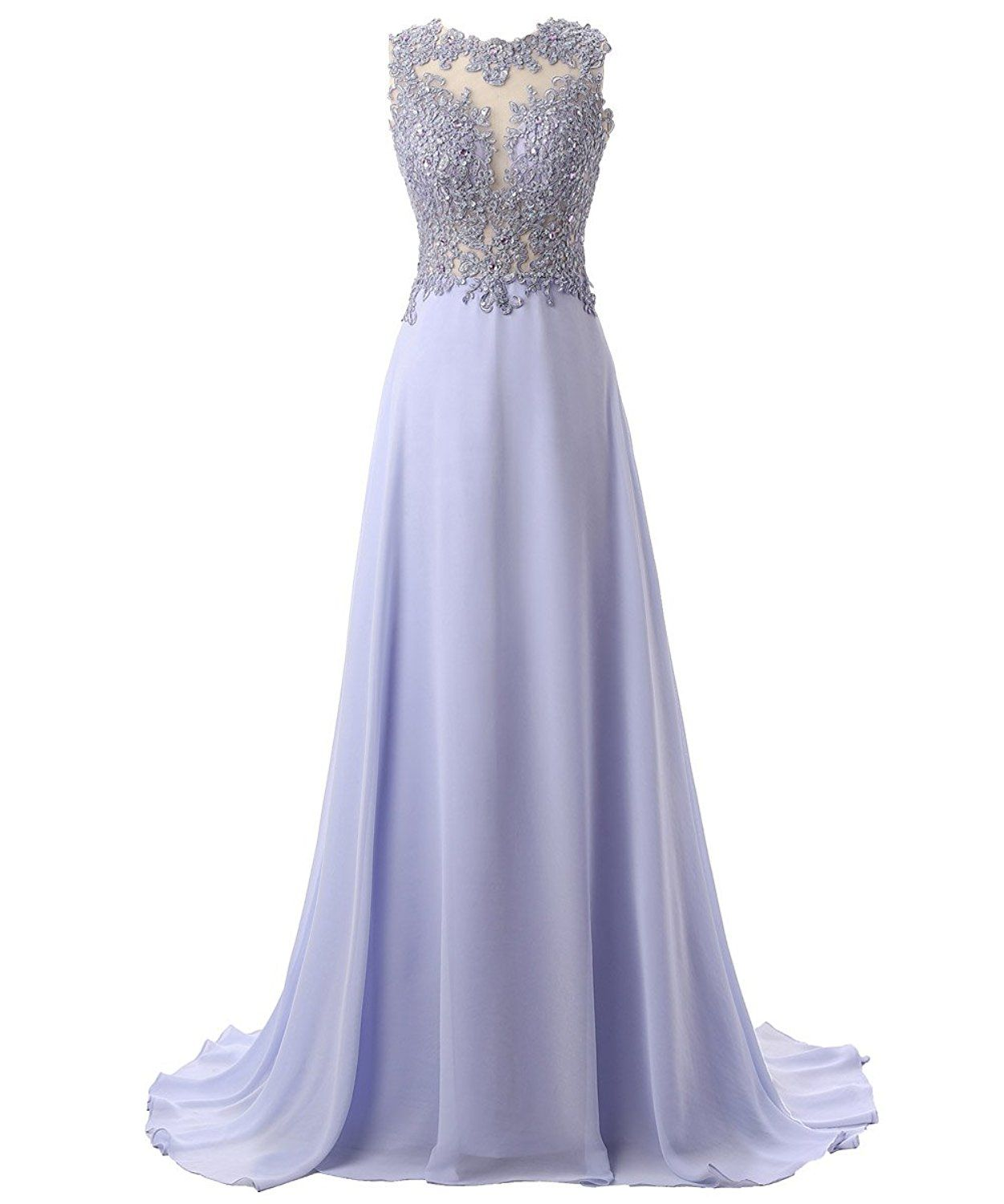 33d0caab76886c Amazon.com: Callmelady Lace Appliqued Prom Dresses 2017 Long Evening Gowns  for Women Formal (Lavender, US2): Clothing