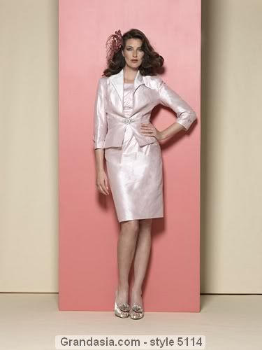 Mother Of The Bride By Sarah Danielle Uk Size Dusty Pink Silk Dress And Jacket