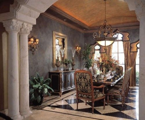 formal dining room ceiling? Really like this room Dining Room - Beautiful Dining Rooms