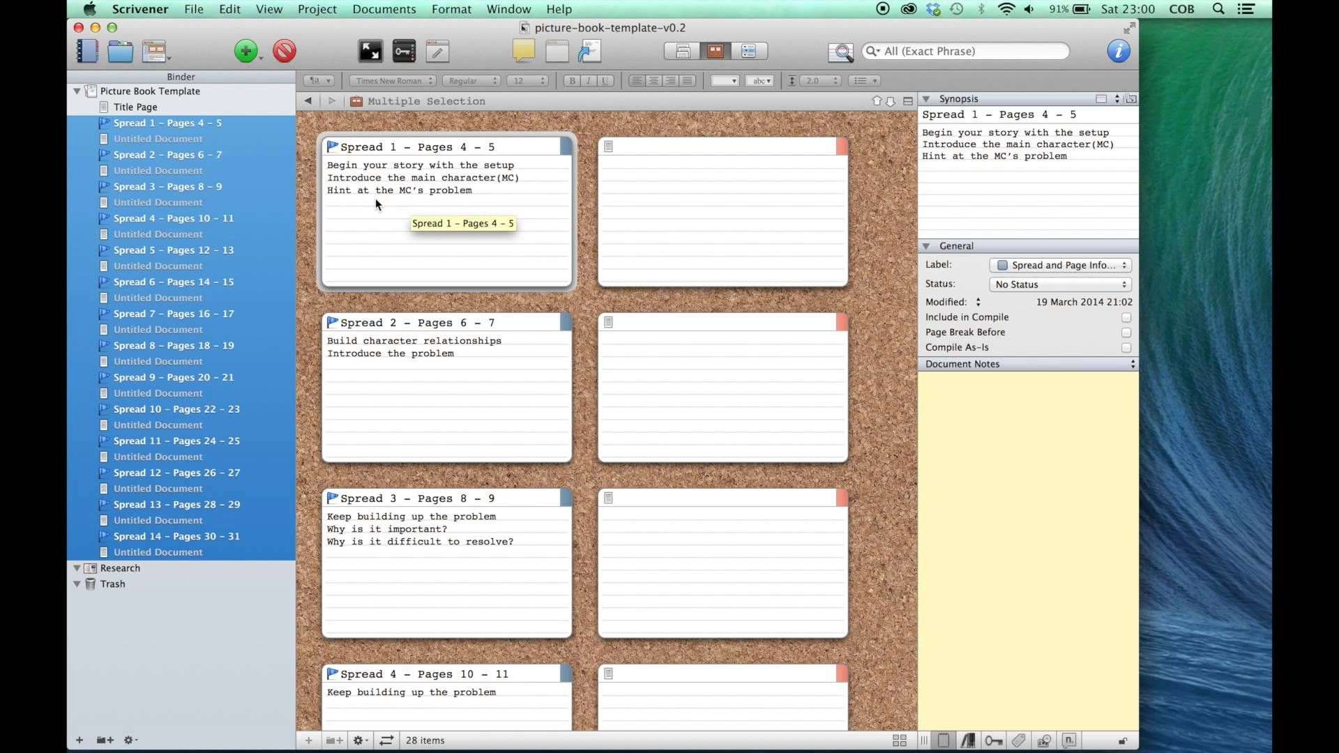 Scrivener picture book template tutorial by claire obrien scrivener picture book template tutorial by claire obrien pronofoot35fo Images
