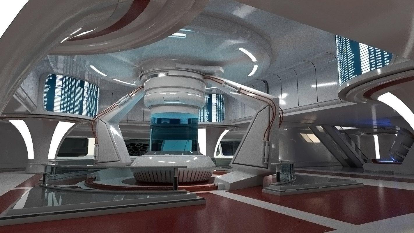 Science fiction interior scene 3d max islamic for Sci fi decor