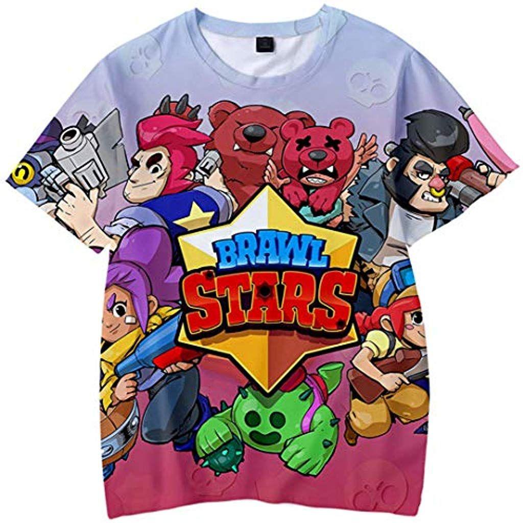 83c8dc8640fa Silver Basic 3D T Shirt con Brawl Stars Stampa Maglietta Gioco Fans Top per  Bambini e. Visita. giugno 2019