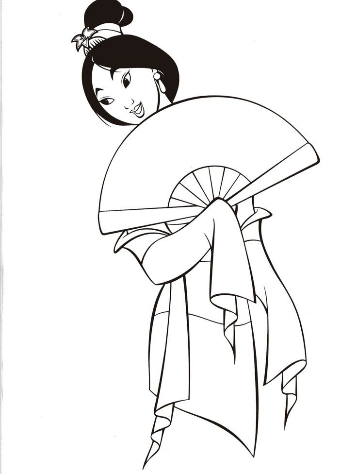 Disney Mulan Coloring Pages Cores Disney Desenhos Animados Para
