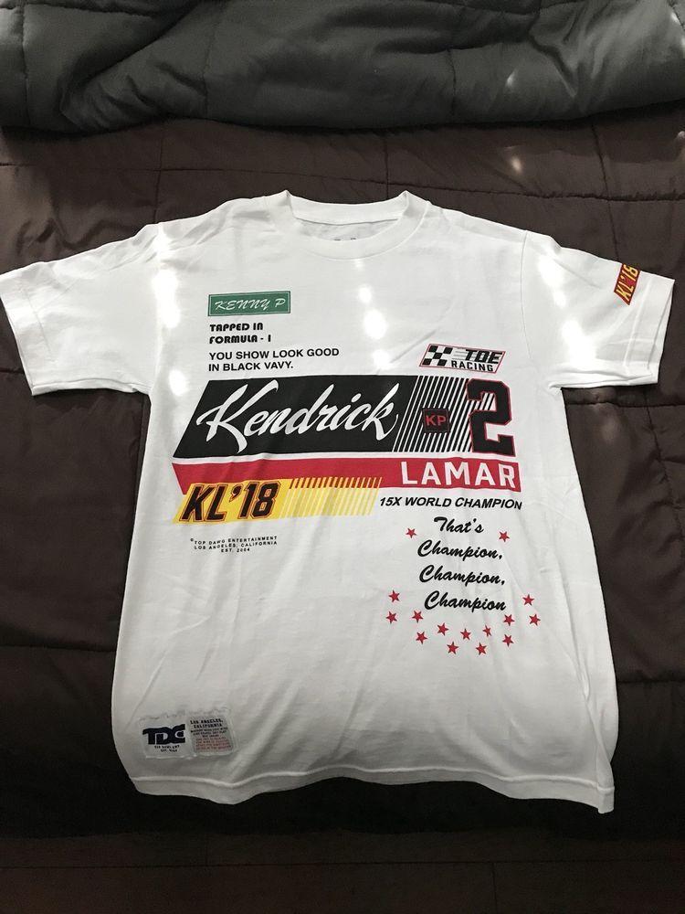 e13128dc Kendrick Lamar TDE Champion Tour Exclusive Shirt Small Sza Schoolboy Q Nike  D | eBay