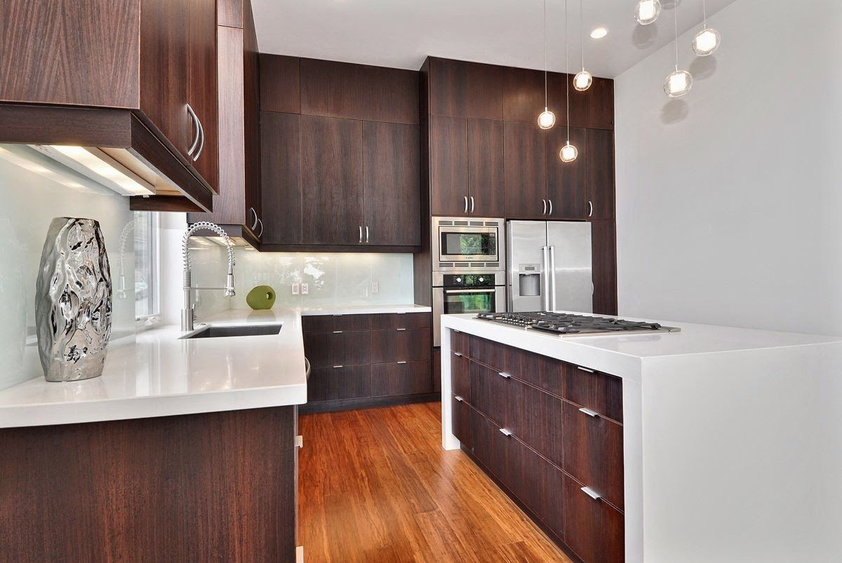 Modern Wooden Kitchen Cabinets Megatruss Global Bata Ringan Baja Ringan Plafon Foto Desain