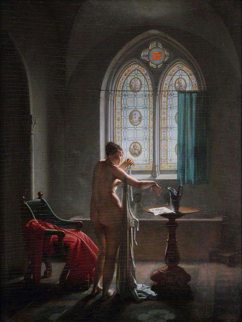 Jean-Baptiste Mallet (1759-1835) - The gothic bath room